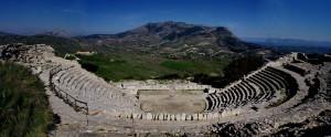 The Greek theatre in Segesta