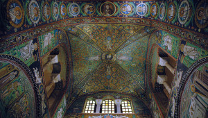Mosaic of the vault of San Vitale Basilica