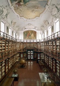 Classense library made by the abbey  Pietro Canneti (1659-1730).